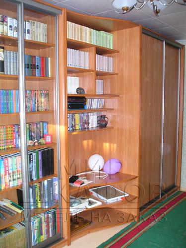 Библиотеки, шкафы купе фото. мебель на заказ от компании мир.