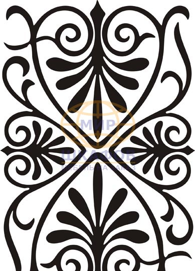 19. Галереи. Стекло с пескоструйной обработкой. Растительные орнаменты. Главная